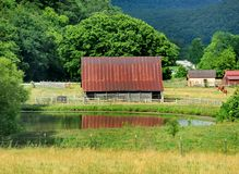 Arkansas Backroad and Barn royalty free stock photos