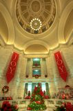 Arkansas Capitol Rotunda Christmas Tree. Royalty Free Stock Photo