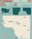 Arkansas: Carroll okręg administracyjny Zdjęcie Stock