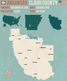 Arkansas: Clark County royaltyfri illustrationer