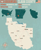 Arkansas: Clark okręg administracyjny Obraz Royalty Free