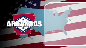 Arkansas Countered Flag and Information Panel stock video