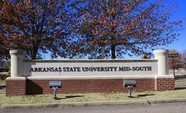 Arkansas delstatsuniversitetMitt--söder, västra Memphis, Arkansas royaltyfri foto