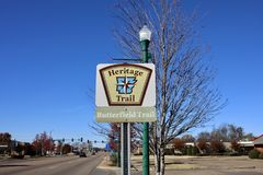 Heritage Trail, Butterfield Trail, West Memphis, Arkansas. From the Arkansas Delta to the. Ozark Mountains and in every geographic region in between,. Arkansas`s Royalty Free Stock Photos
