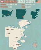 Arkansas: Desha okręg administracyjny Zdjęcie Royalty Free