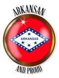 Arkansas Dumny Chorągwiany guzik ilustracji