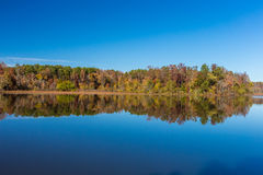 Arkansas fall landscape and lake in Petit Jean state park Stock Photos