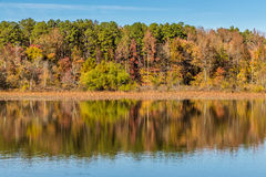 Arkansas fall reflection in Petit Jean state park Royalty Free Stock Photography