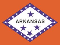 Arkansas flag Stock Images