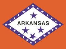 Arkansas flag. State of Arkansas vector flag illustration Stock Images