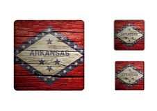 Arkansas Flag Buttons Royalty Free Stock Photography