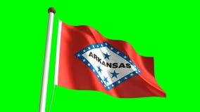 Arkansas flag. Seamless  green screen stock video
