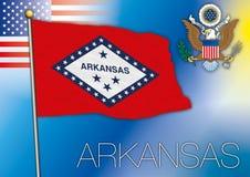 Arkansas flag, us state Stock Photos