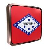 Arkansas flaga ikona ilustracji