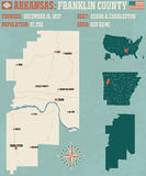 Arkansas: Franklin County vector illustration