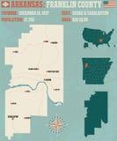 Arkansas: Franklin okręg administracyjny ilustracja wektor