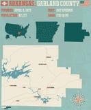 Arkansas: Girlanda okręg administracyjny Zdjęcia Stock
