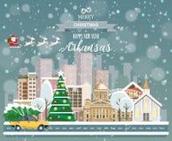 Arkansas, glad jul och ett lyckligt nytt år! Arkivbilder