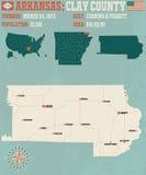 Arkansas: Gliniany okręg administracyjny Zdjęcia Royalty Free
