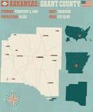 Arkansas: Grant okręg administracyjny Fotografia Stock