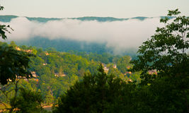 Arkansas-Green State See-Nebel-Steigen Stockbild