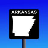 Arkansas highway sign Stock Images