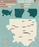 Arkansas: Izard okręg administracyjny Zdjęcie Royalty Free