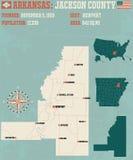 Arkansas: Jackson okręg administracyjny Obrazy Royalty Free