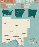 Arkansas: Johnson okręg administracyjny ilustracja wektor
