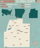 Arkansas: Kolumbia okręg administracyjny ilustracja wektor