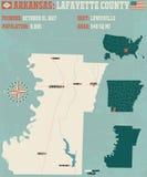 Arkansas: Lafayette okręg administracyjny Zdjęcie Stock