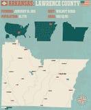 Arkansas: Lawrance okręg administracyjny Obraz Stock
