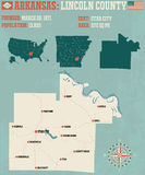 Arkansas: Lincoln okręg administracyjny Obraz Stock