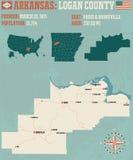 Arkansas: Logan okręg administracyjny Obrazy Stock