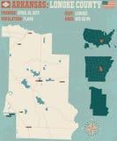 Arkansas: Lonoke okręg administracyjny Zdjęcie Stock