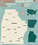 Arkansas: Madison okręg administracyjny Zdjęcie Royalty Free