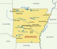 Arkansas - vector map of territory Royalty Free Stock Photos