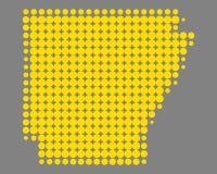 arkansas mapa Zdjęcie Stock
