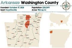 Arkansas: Mapa Waszyngtoński okręg administracyjny ilustracja wektor
