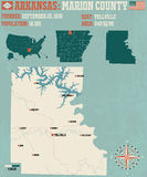 Arkansas: Marion okręg administracyjny royalty ilustracja