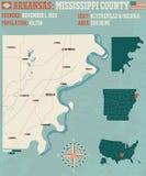 Arkansas: Mississippi okręg administracyjny royalty ilustracja