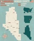 Arkansas: Monroe okręg administracyjny Obrazy Royalty Free