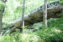 Arkansas naturlig bro Fotografering för Bildbyråer
