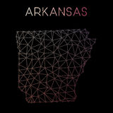 Arkansas-Netzkarte Lizenzfreies Stockfoto