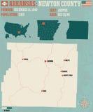 Arkansas: Newtonu okręg administracyjny Zdjęcia Stock