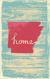 Arkansas nostalgic rustic vintage state vector sign. Rustic vintage style U.S. state poster in layered easy-editable vector format Royalty Free Stock Images