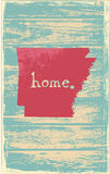 Arkansas nostalgic rustic vintage state vector sign. Rustic vintage style U.S. state poster in layered easy-editable vector format Stock Images