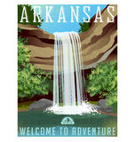 Arkansas podróży majcher lub plakat