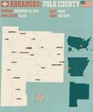 Arkansas: Polk okręg administracyjny Fotografia Stock