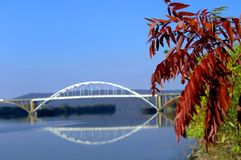 Arkansas River Bridge Royalty Free Stock Photography